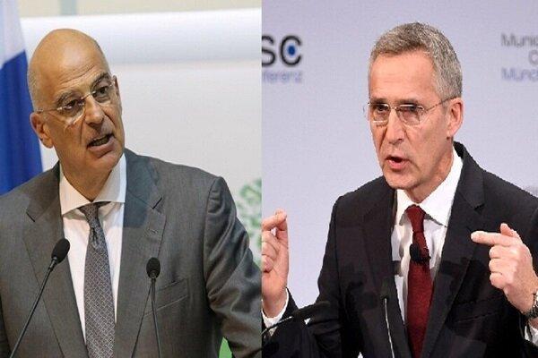 وزیر خارجه یونان با دبیرکل ناتو گفتگو کرد