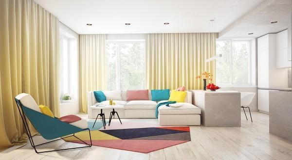 دکوراسیون خانه با رنگ شاد و جذاب در سبک مدرن و امروزی