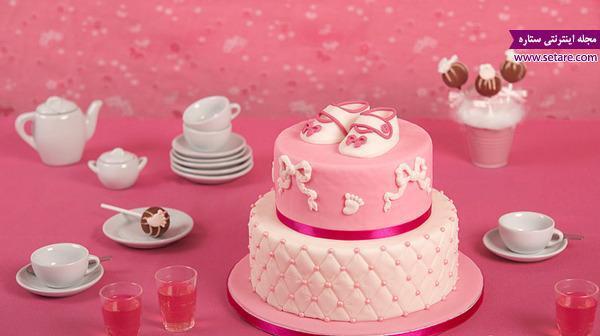 عکس هایی از تزیین کیک تولد دخترانه