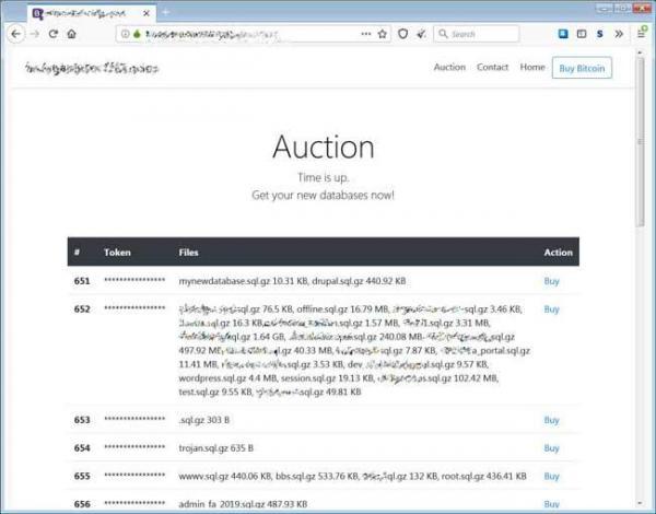 بیش از 250 هزار دیتابیس MySQL در یکی از پرتالهای دارک وب به فروش گذاشته شد