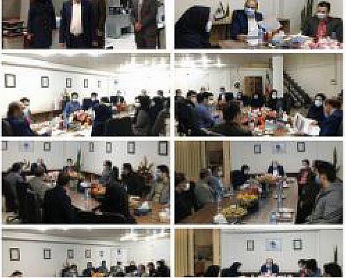 تشریح برنامه های سالجاری بیمه میهن در بازدید مدیرعامل از شعبه زنجان